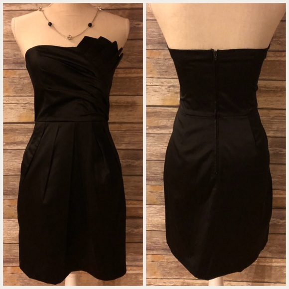 7e200971d Teeze Me Dresses | Black Strapless Size 5 Short Prom Dress | Poshmark